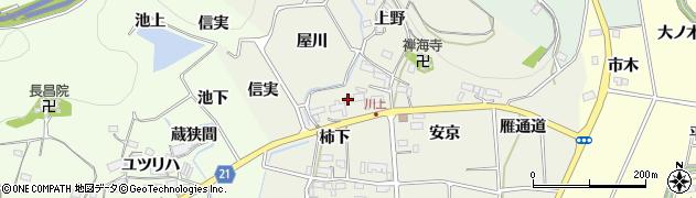 愛知県新城市富永(柿下)周辺の地図