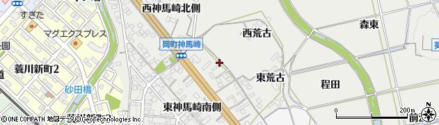 愛知県岡崎市岡町(東神馬崎北側)周辺の地図