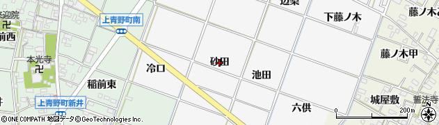 愛知県岡崎市中之郷町(砂田)周辺の地図
