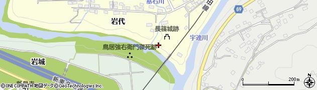 愛知県新城市長篠(市場)周辺の地図