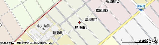 愛知県碧南市島池町周辺の地図