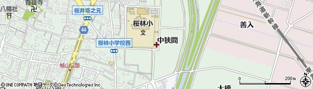 愛知県安城市桜井町周辺の地図
