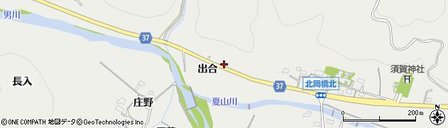 愛知県岡崎市樫山町(出合)周辺の地図