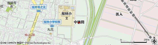 愛知県安城市桜井町(中狭間)周辺の地図