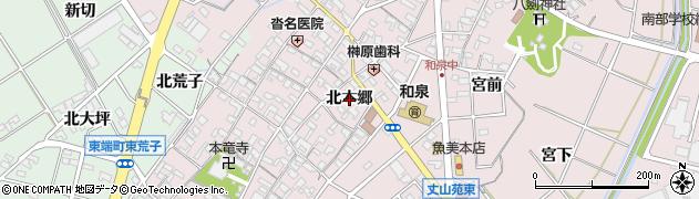 愛知県安城市和泉町(北本郷)周辺の地図