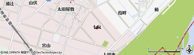 愛知県安城市川島町(七反)周辺の地図
