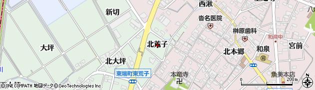 愛知県安城市東端町(北荒子)周辺の地図