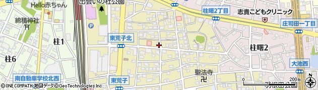 愛知県岡崎市柱町(東荒子)周辺の地図