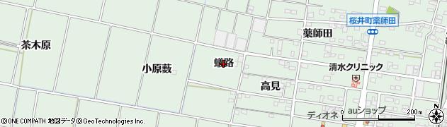 愛知県安城市桜井町(蟻路)周辺の地図