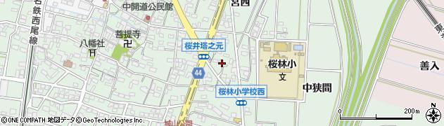 愛知県安城市桜井町(塔元)周辺の地図