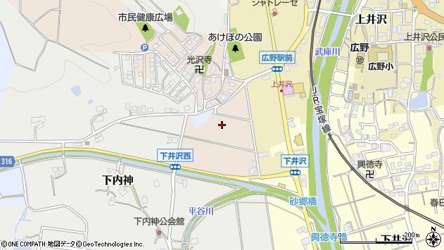 〒669-1332 兵庫県三田市広沢の地図