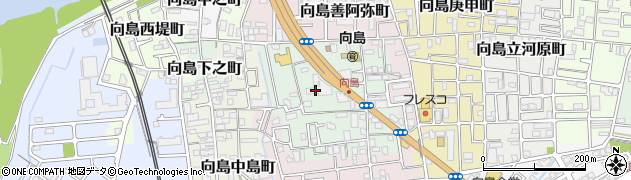 京都府京都市伏見区向島本丸町周辺の地図