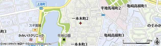 愛知県半田市一本木町周辺の地図