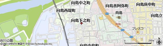 京都府京都市伏見区向島下之町周辺の地図