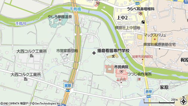 〒673-1451 兵庫県加東市家原の地図