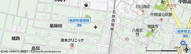 愛知県安城市桜井町(山ノ寺)周辺の地図