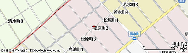 愛知県碧南市松原町周辺の地図