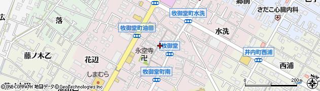 愛知県岡崎市牧御堂町(郷中)周辺の地図