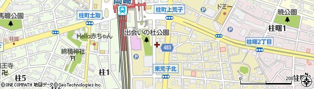 愛知県岡崎市柱町(下荒子)周辺の地図