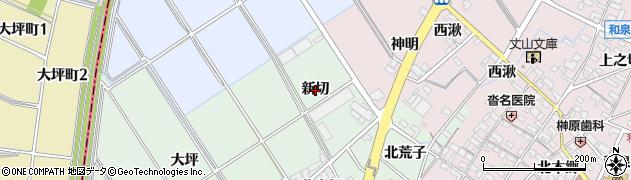 愛知県安城市東端町(新切)周辺の地図