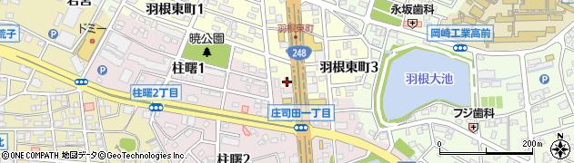 アオキーズピザ岡崎店周辺の地図