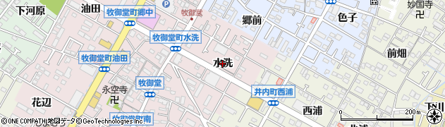 愛知県岡崎市牧御堂町(水洗)周辺の地図