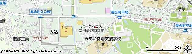 日清紡社宅周辺の地図
