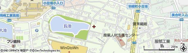 愛知県岡崎市羽根町周辺の地図