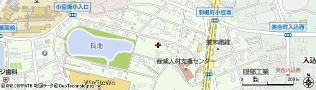 愛知県岡崎市羽根町(小豆坂)周辺の地図