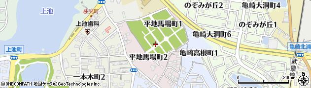 愛知県半田市平地馬場町周辺の地図