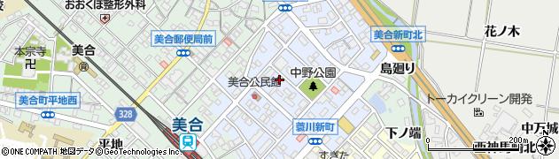 愛知県岡崎市美合新町周辺の地図