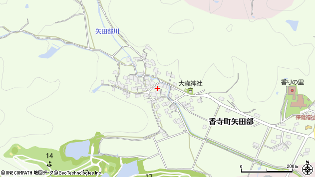 〒679-2155 兵庫県姫路市香寺町矢田部の地図