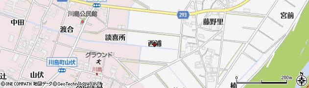 愛知県安城市村高町(西浦)周辺の地図