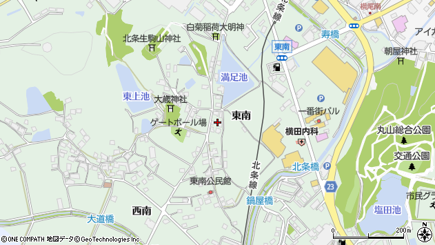 〒675-2324 兵庫県加西市北条町東南の地図