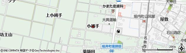愛知県安城市桜井町(小縄手)周辺の地図