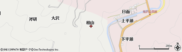 愛知県岡崎市樫山町(相山)周辺の地図