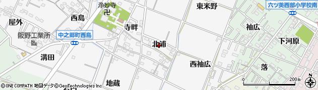 愛知県岡崎市中之郷町(北浦)周辺の地図