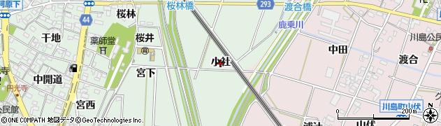 愛知県安城市桜井町(小社)周辺の地図