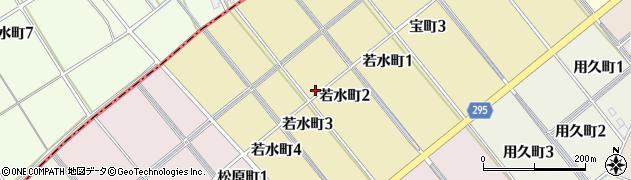愛知県碧南市若水町周辺の地図
