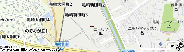 愛知県半田市亀崎新田町周辺の地図