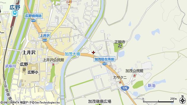 〒669-1311 兵庫県三田市加茂の地図