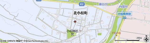 三重県四日市市北小松町周辺の地図