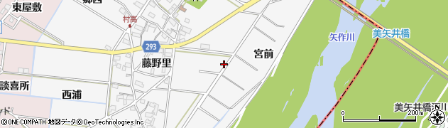 愛知県安城市村高町周辺の地図