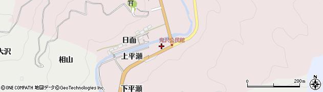 愛知県岡崎市夏山町(上平瀬)周辺の地図