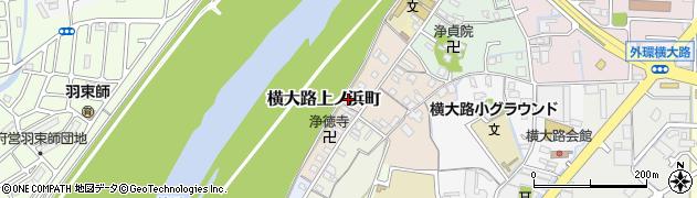 京都府京都市伏見区横大路上ノ浜町周辺の地図