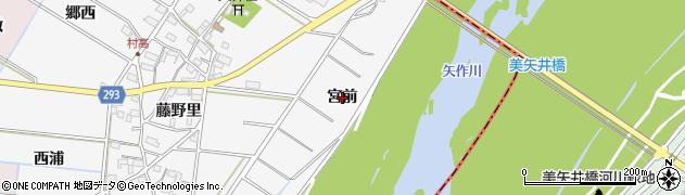 愛知県安城市村高町(宮前)周辺の地図