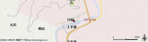 愛知県岡崎市夏山町(日面)周辺の地図