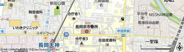 京都府長岡京市周辺の地図