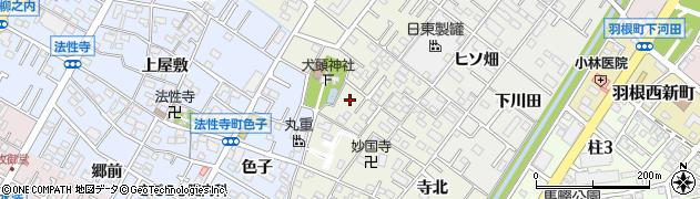 愛知県岡崎市宮地町(馬場)周辺の地図