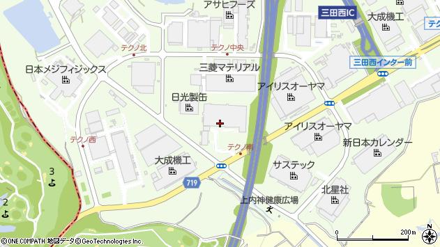 〒669-1339 兵庫県三田市テクノパークの地図